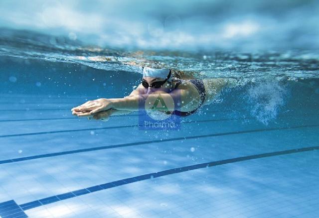 Bơi lội vừa tăng cường sức khỏe lại tốt cho hệ tiêu hóa
