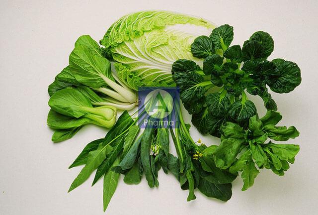 Rau xanh hỗ trợ trị bệnh cao huyết áp