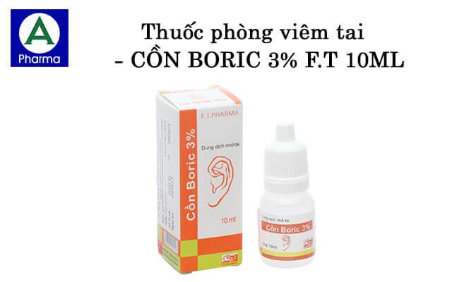 Cồn Boric 3% F.t 10Ml là thuốc gì?