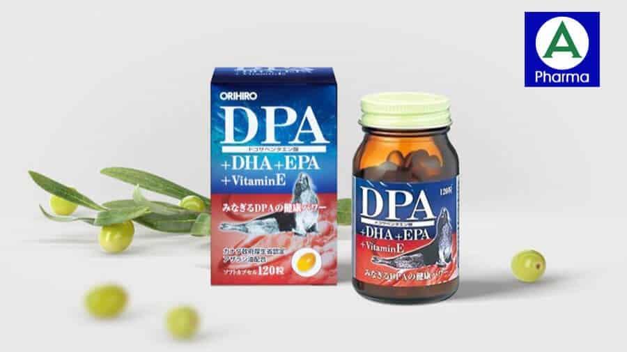 Viên uống DPA DHA EPA Vitamin E Orihiro chống lão hóa da hiệu quả