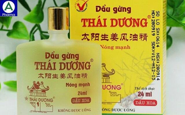 Dầu gừng thái dương – Dầu xoa cảm cúm, đau nhức của Việt Nam