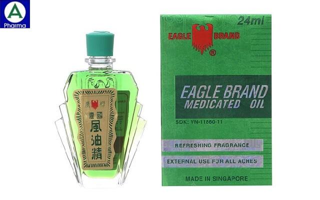 Dầu xanh con ó Eagle 24ml – Dầu gió cảm cúm của Singapore