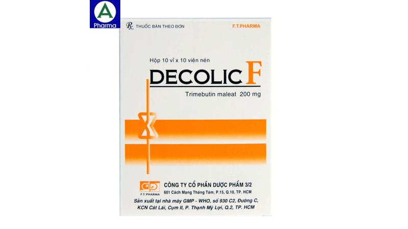Decolic F 200mg FT Pharma - Thuốc điều trị rối loạn tiêu hóa của Việt Nam