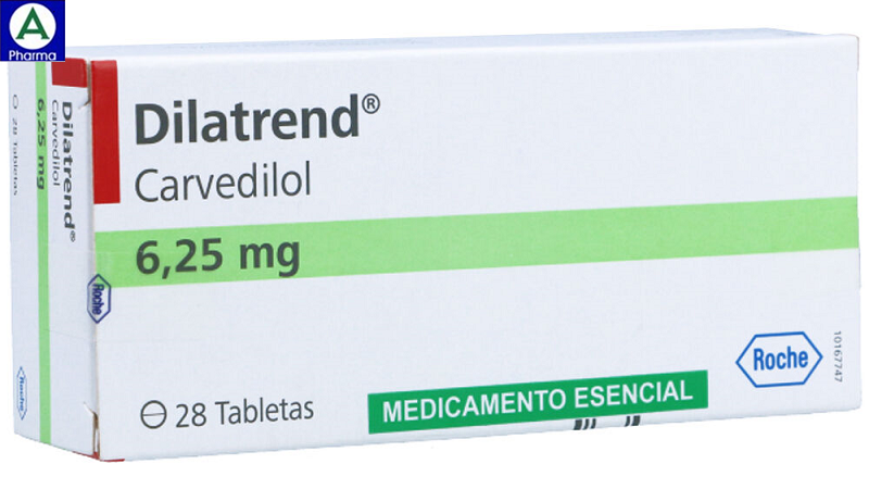 Dilatrend 6,25mg Roche - Thuốc điều trị suy tim của Ý