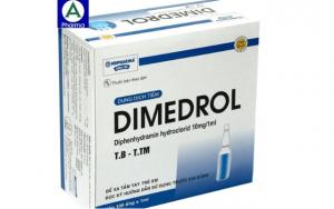 Dimedrol 10mg/1ml – thuốc tiêm viêm mũi dị ứng của việt nam