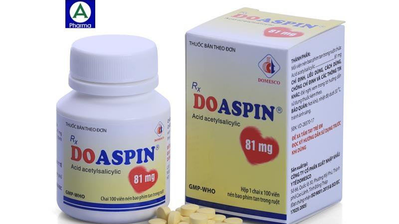 Doaspirin 81mg domesco - Thuốc phòng và điều trị nhồi máu cơ tim