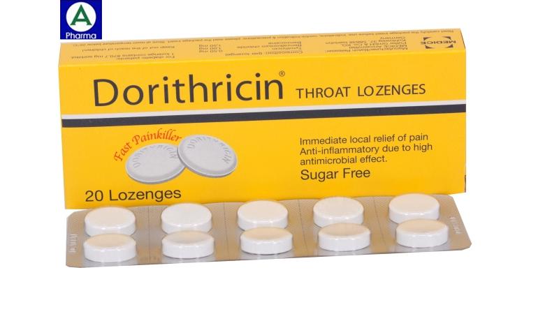 Dorithricin Hyphens- Viên ngậm trị viêm họng của Đức