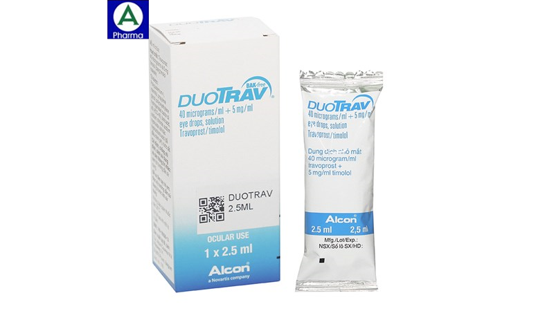 Duotrav 2,5ml Alcon Pharm - Thuốc điều trị glaucom góc mở của Bỉ