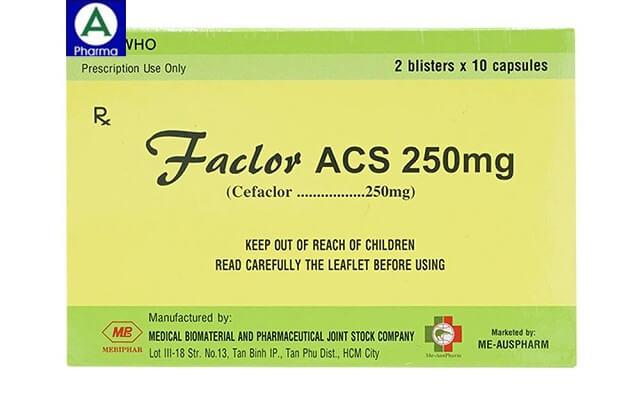 Faclor ACS 250mg - Thuốc điều trị nhiễm khuẩn của Việt Nam