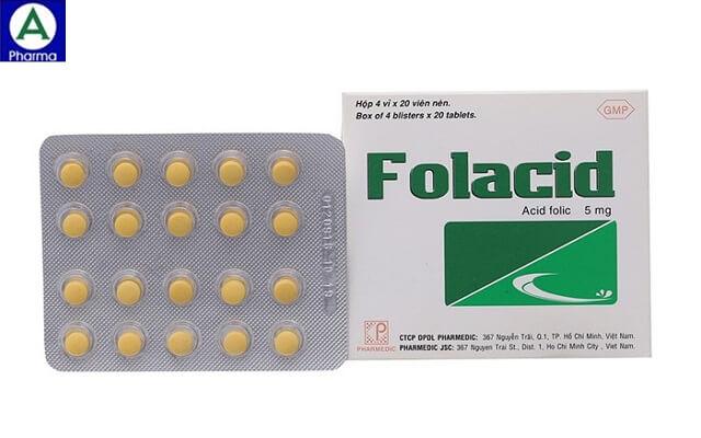 Folacid 5mg Pharmedic – Thuốc bổ sung máu do thiếu vitamin
