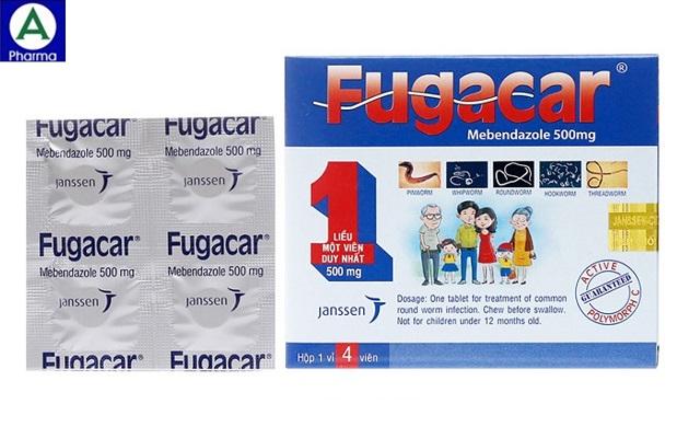 Fugacar Jangsen - Thuốc sổ giun sán của Thái Lan