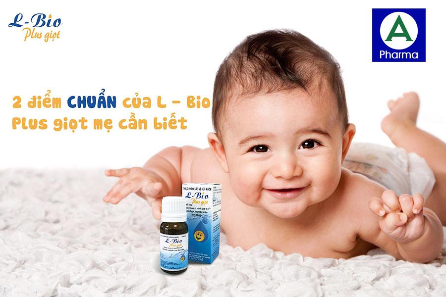 L - Bio Plus được điều chế dưới dạng giọt vô cùng tiện lợi