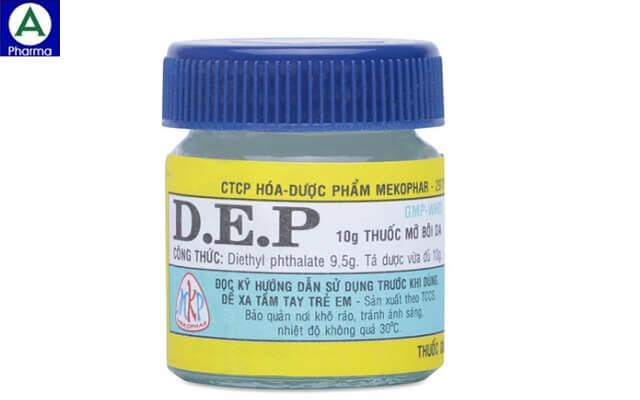 Thuốc mỡ bôi ngoài da D.E.P - Thuốc điều trị tổn thương da của Việt Nam