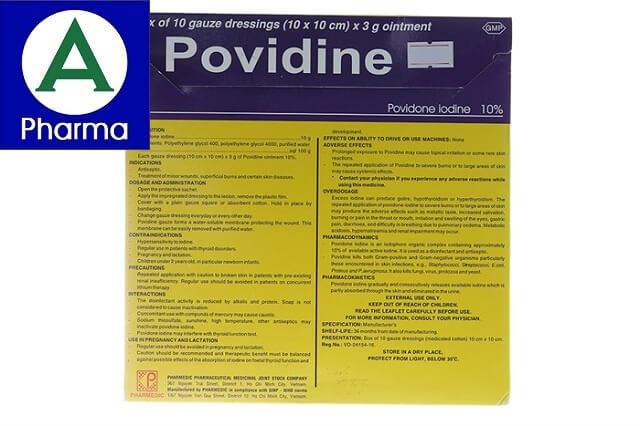 Giới thiệu về miếng dán sát trùng Povidine