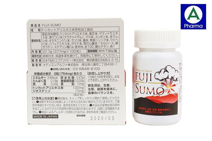 Viên uống tăng cường sinh lý Fuji Sumo hoàn toàn không gây tác dụng phụ