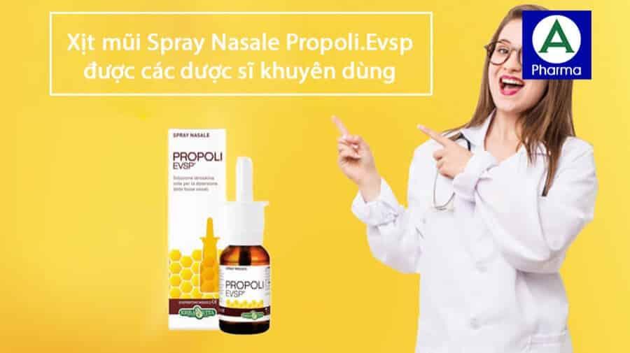 Xịt mũi Spray Nasale Propoli.Evsp được dược sĩ khuyên dùng để bảo vệ mũi