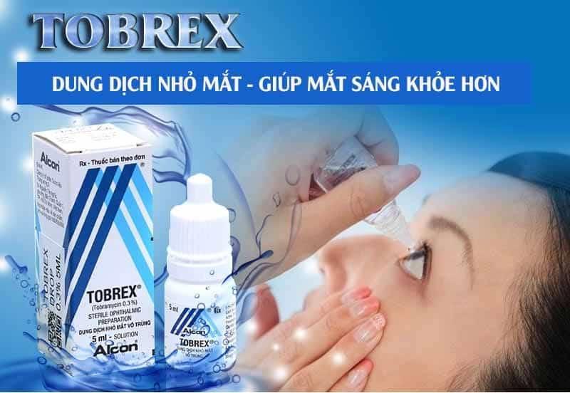 Tobrex được sử dụng điều trị cho tình trạng nhiễm trùng ngoài nhãn cầu
