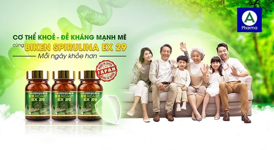 Biken Spirulina EX 29 - Thực phẩm bảo vệ sức khỏe của mọi gia đình