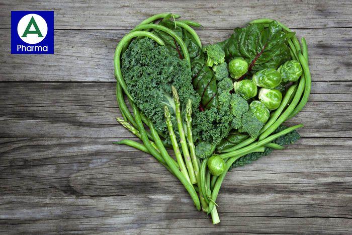 Rau xanh chứa nhiều Kali tốt cho bệnh huyết áp cao