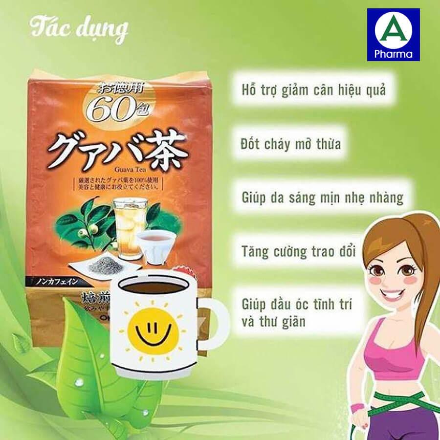 Các công dụng tuyệt vời của trà ổi giảm cân Orihiro
