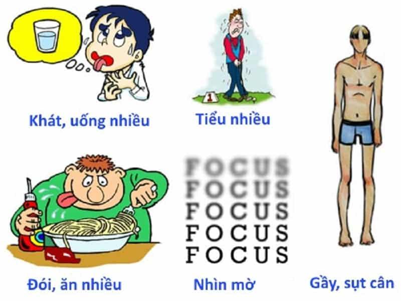 Một số dấu hiệu tiêu biểu của bệnh tiểu đường