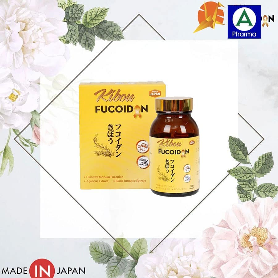 Kibou Fucoidan Nghệ Đen được đóng gói theo tiêu chuẩn chất lượng cao