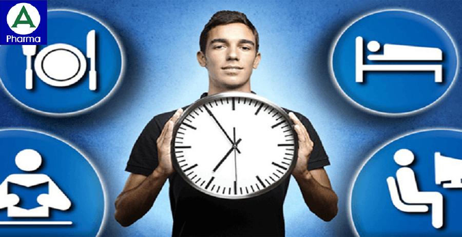 Ăn, ngủ, sinh hoạt đúng giờ giúp cải thiện bệnh.
