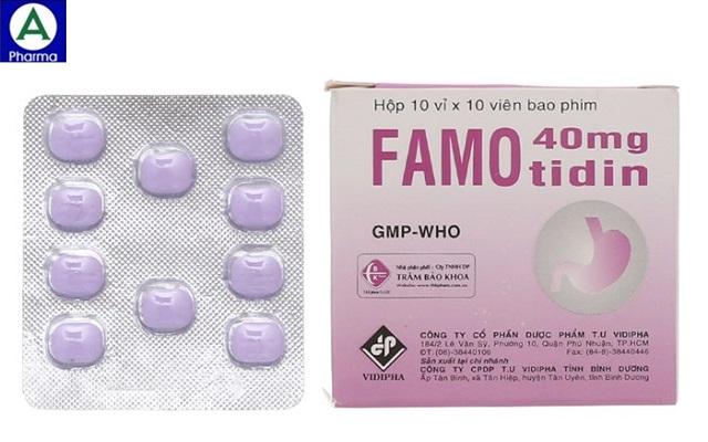 Famotidin 40mg Vidiphar - Thuốc điều trị loét dạ dày tá tràng
