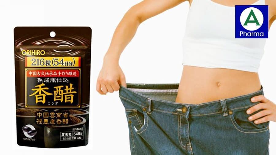 Giấm đen Orihiro là sản phẩm hỗ trợ giảm cân an toàn, không có tác dụng phụ