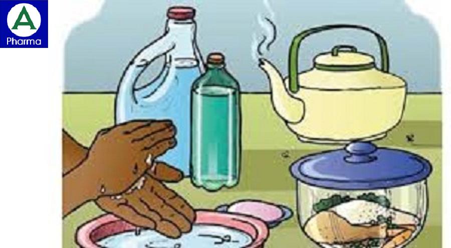Để đảm bảo vệ sinh nên thực hiện ăn chín, uống sôi và rửa tay thường xuyên bằng xà phòng.