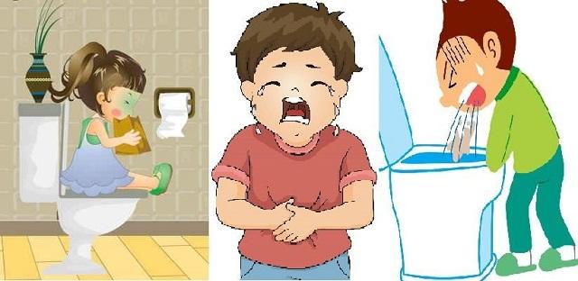 Tác dụng trị tiêu chảy, đau bụng, nôn mửa (Theo sách biệt lục)