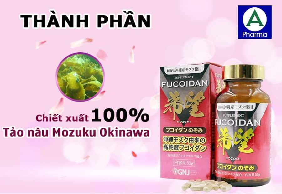 Sản phẩm chiết xuất từ tảo nâu Mozuku Okinawa