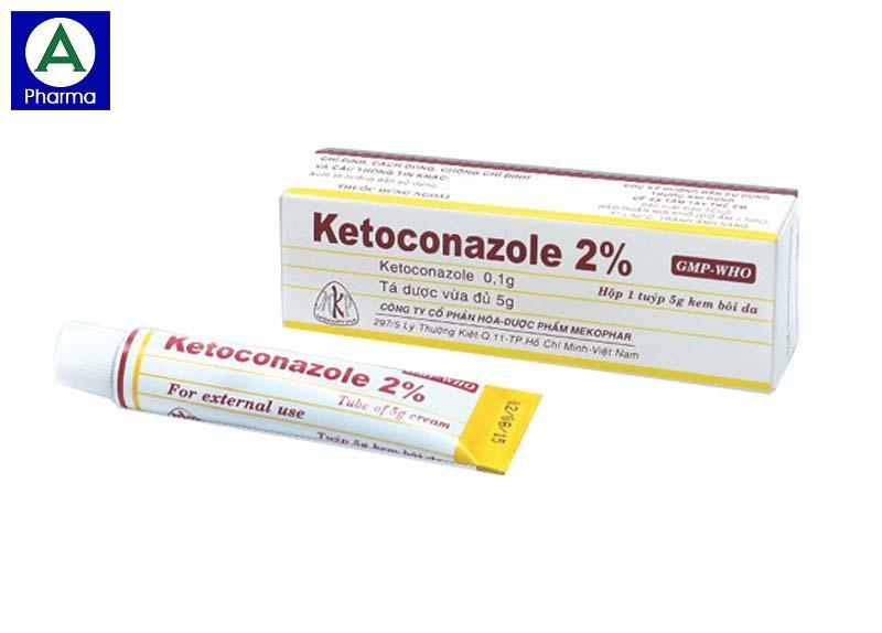 Thuốc bôi trị nấm da Ketoconazole 2%