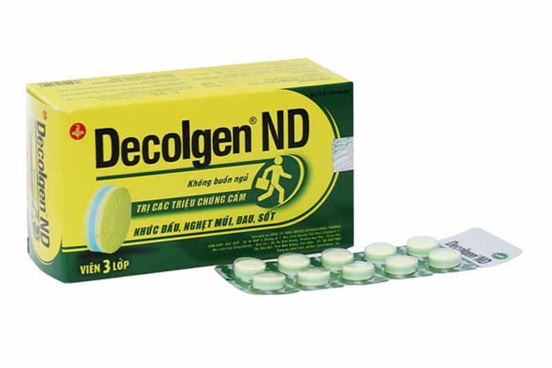 Thuốc trị cảm cúm Decolgen ND