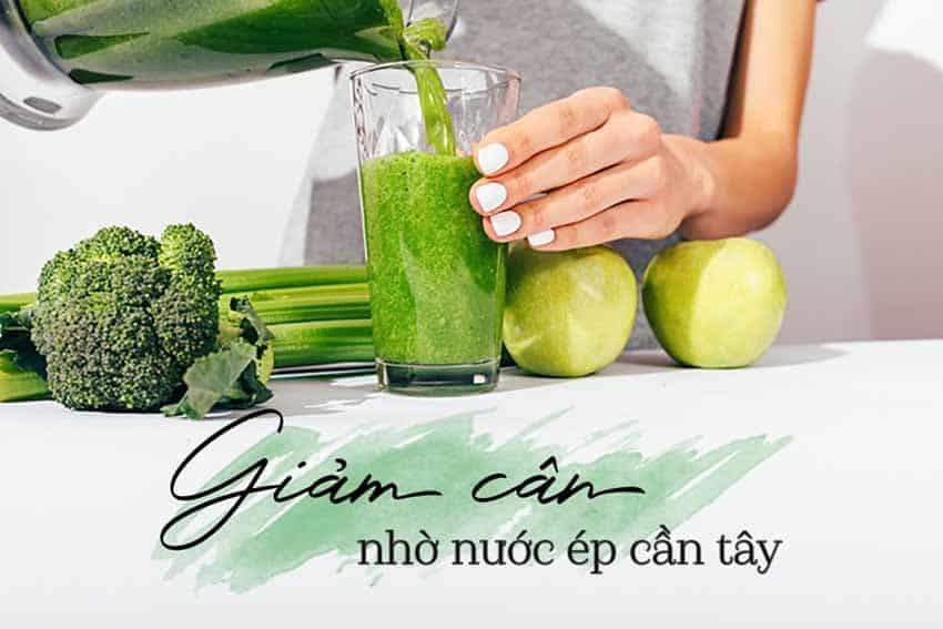 Uống nước ép cần tây giảm cân