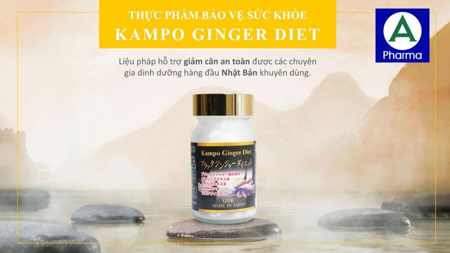 Viên giảm cân, tan mỡ Kampo Ginger được các dược sĩ, bác sĩ khuyên dùng để đốt cháy mỡ thừa, bảo vệ sức khỏe