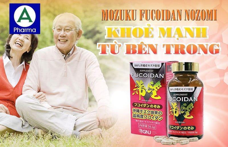Viên nang tảo Fucoidan Nozomi Okinawa hỗ trợ điều trị ung thư