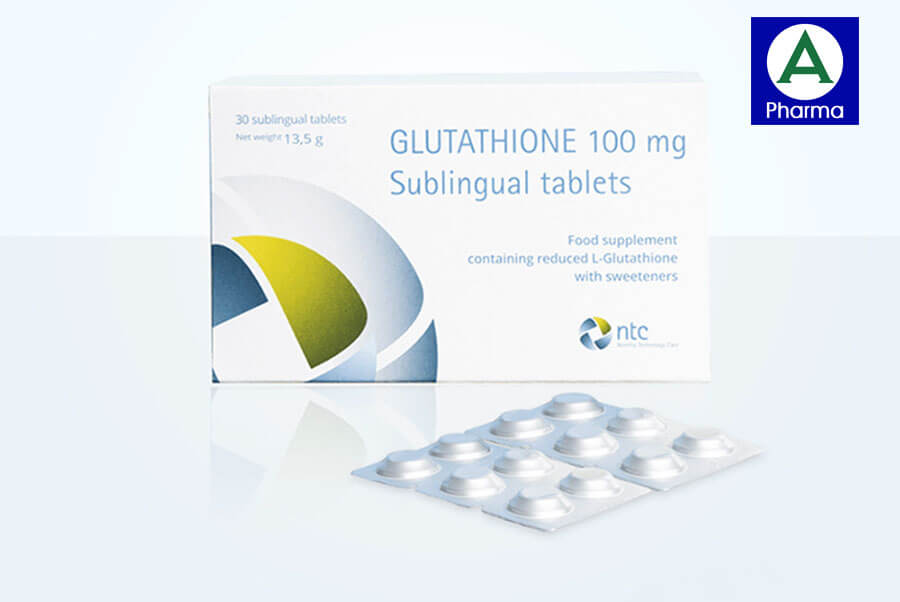 Viên nén đặt dưới lưỡi Glutathione 100mg hỗ trợ trắng da hiệu quả