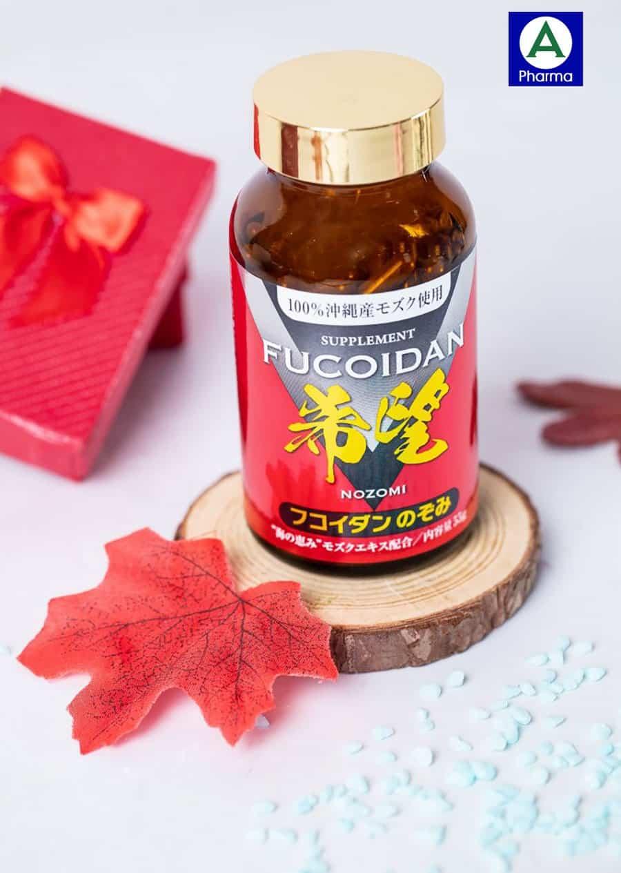 Viên tảo Mozuko Fucoidan Nozomi chiết xuất 100% thiên nhiên an toàn, lành tính