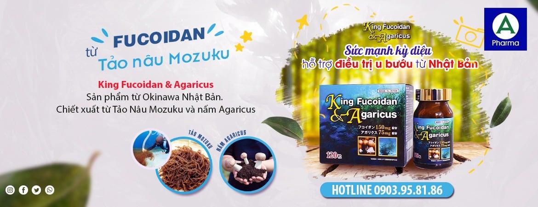 Viên uống King Fucoidan & Agaricus Nhật Bản