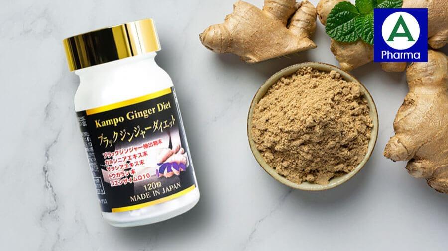 Viên uống giảm cân Kampo Ginger Diet - Sản phẩm hỗ trợ giảm cân hiệu quả từ Nhật Bản