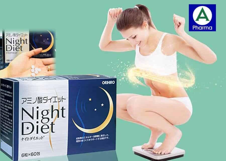 Night Diet Orihiro - Viên uống hỗ trợ giảm cân Nhật Bản