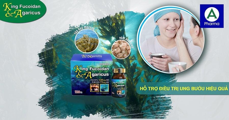 Viên uống hỗ trợ điều trị ung thư King Fucoidan & Agaricus
