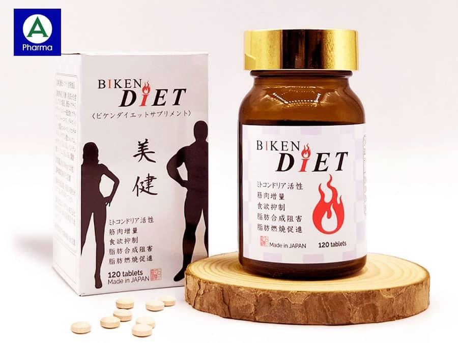 Viên uống Biken Diet 120 viên được sản xuất theo tiêu chuẩn chất lượng cao