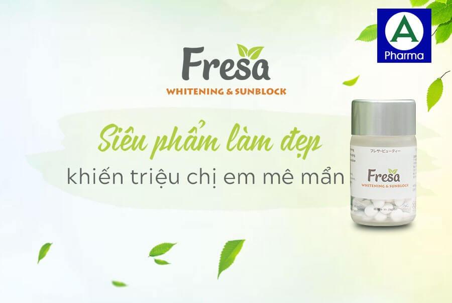 Viên uống trắng da Fresa Nhật Bản được nhiều chị em đánh giá tốt